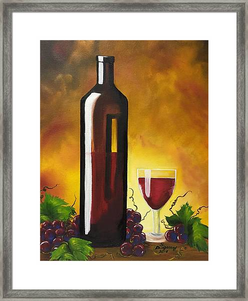 Okanagan Red  Framed Print
