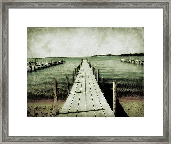 Okoboji Docks Framed Print