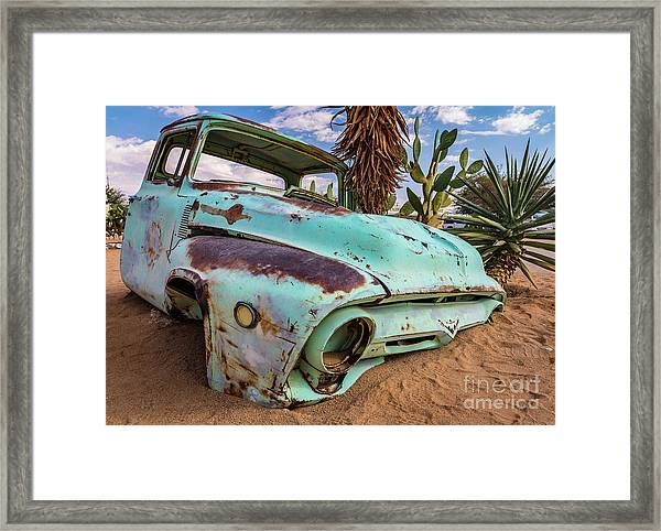 Old And Abandoned Car 7 In Solitaire, Namibia Framed Print