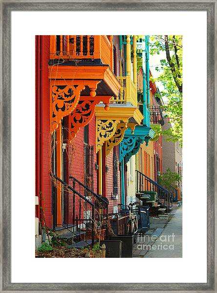 Old Architecture In Montreal Framed Print