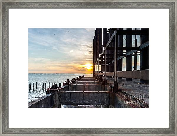 Old Architecture In Sunset, Abstract Framed Print