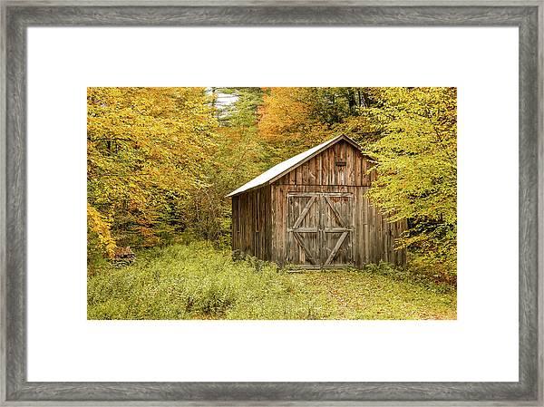 Old Barn New England Framed Print