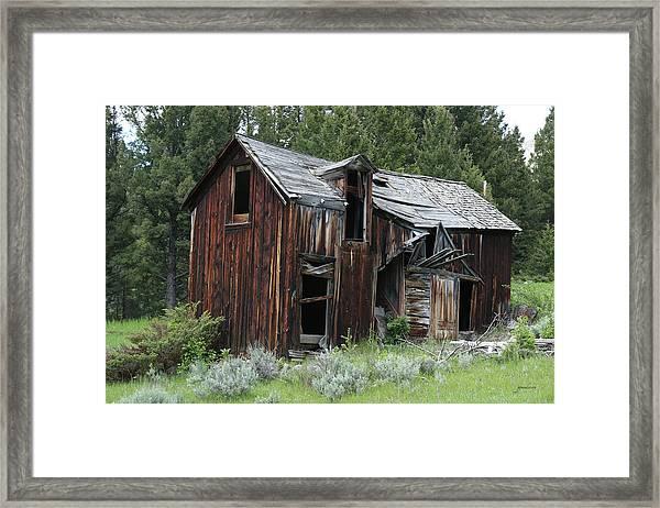 Old Cabin - Elkhorn, Mt Framed Print
