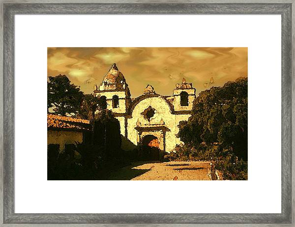 Old Carmel Mission - Watercolor Painting Framed Print