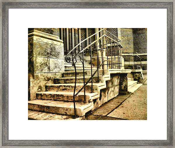 Old Church Entrance In Vienna Framed Print