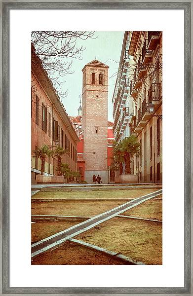 Old Church In Madrid Spain Framed Print