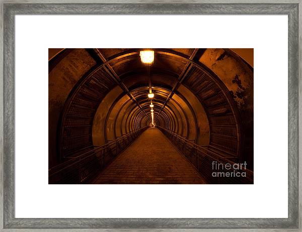 Old Dark Red Tunnel Framed Print
