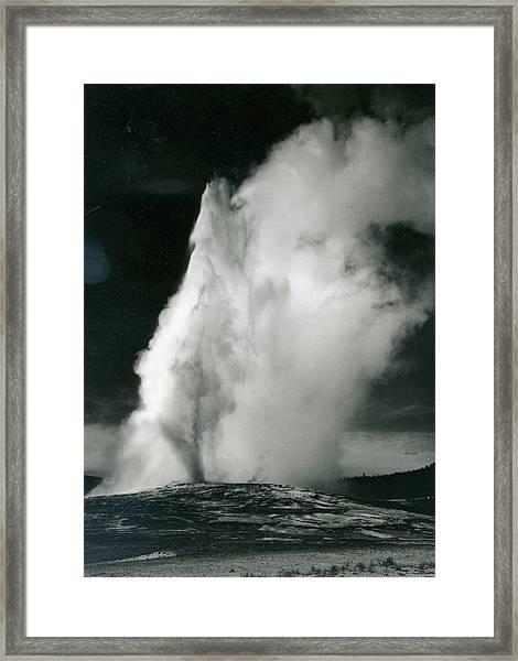 Old Faithful Geyser, Yellowstone Framed Print by Archive Photos