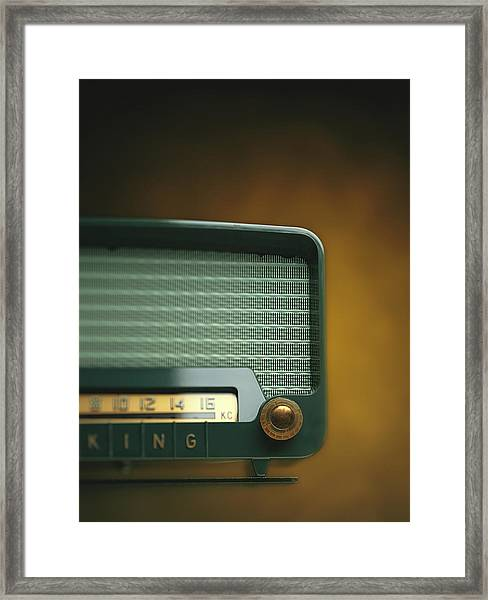 Old-fashioned Radio With Dial Tuner Framed Print