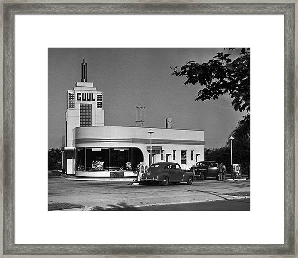 Old Gasoline Station Framed Print