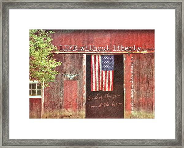 Old Glory Quote Framed Print by JAMART Photography