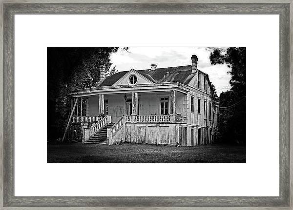 Old House Black And White Framed Print