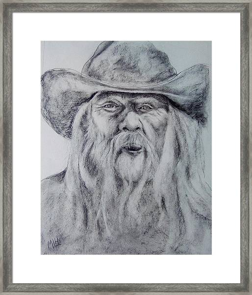 Old Man In A Hat  Framed Print