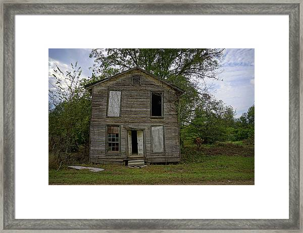 Old Masonic Lodge In Ruins Framed Print