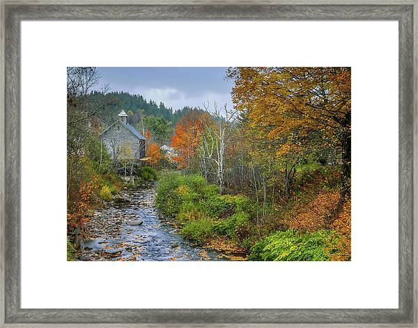 Old Mill New England Framed Print