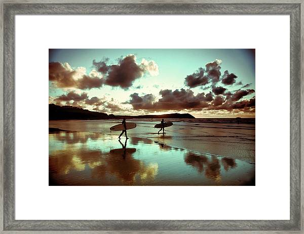 Old Skool Surf Framed Print by Landscapes, Seascapes, Jewellery & Action Photographer