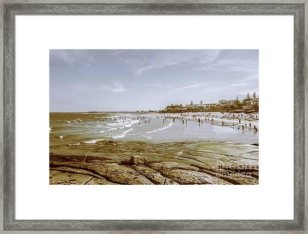 Old Sunshine Coast Bathers Framed Print