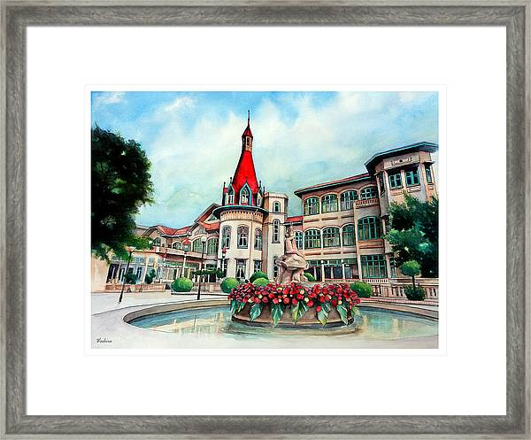 Old Thailand Palace, Architecture Framed Print
