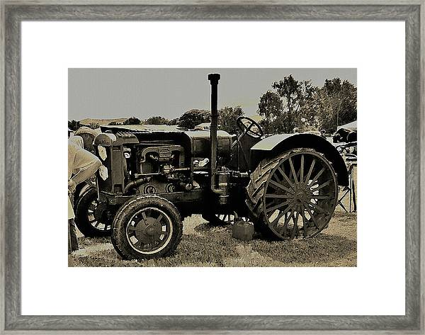Ye Old Tractor Framed Print