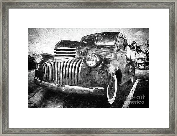 Old Truck  - Painterly Framed Print