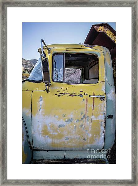 Old Vintage Dump Truck Framed Print