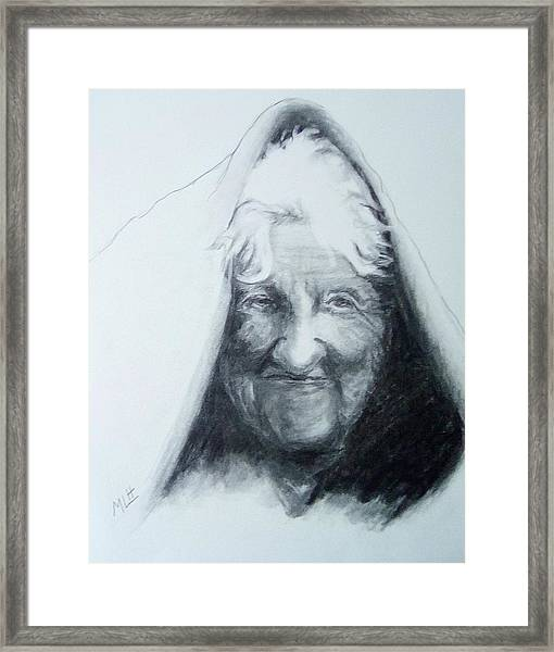 Old Woman Framed Print