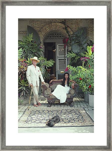 Olivier Coquelin Framed Print by Slim Aarons