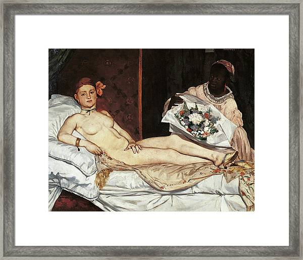 Olympia, By Edouard Manet, 1863, 19th Framed Print