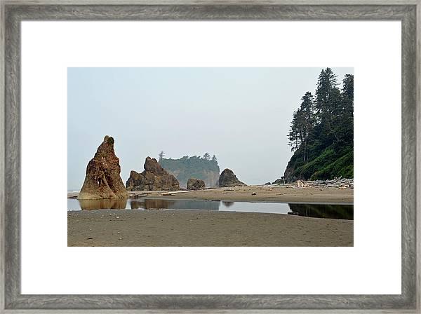 Olympic National Park Seastacks Framed Print