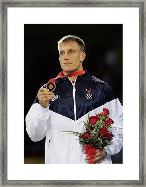 Olympics Day 6 - Wrestling Framed Print