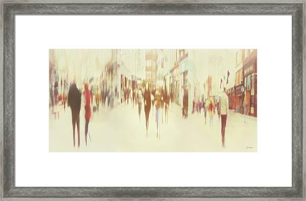 On Grafton Street Framed Print by Norma Slack