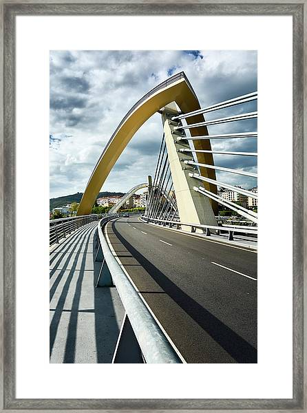 Millennium Bridge In Ourense, Spain Framed Print