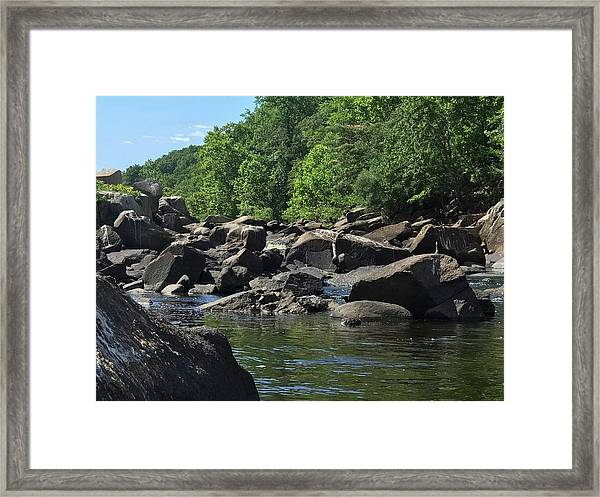 On The Occoquan Framed Print
