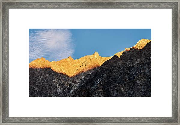Framed Print featuring the photograph On The Ridge by Whitney Goodey