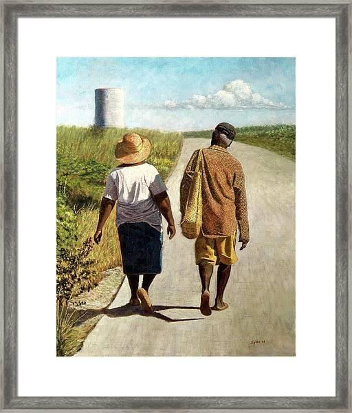 On The Road To Hatchet Bay Framed Print