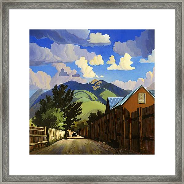 On The Road To Lili's Framed Print