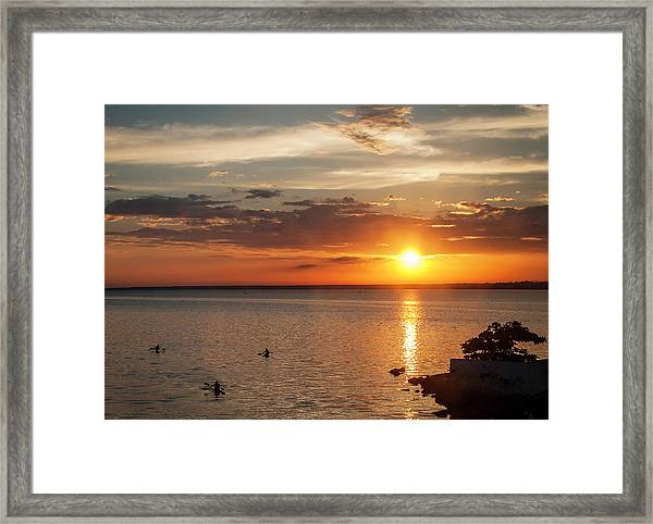 On The Sea Framed Print