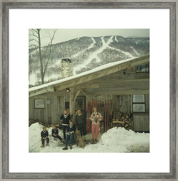 On The Slopes In Stowe Framed Print
