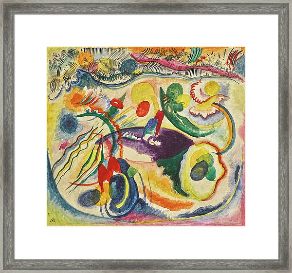 On The Theme Of The Last Judgment - Zum Thema Jungstes Gericht Framed Print