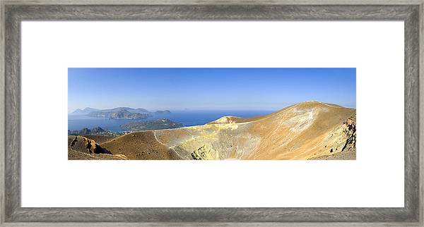 On The Top Of Volcano Framed Print by Maremagnum