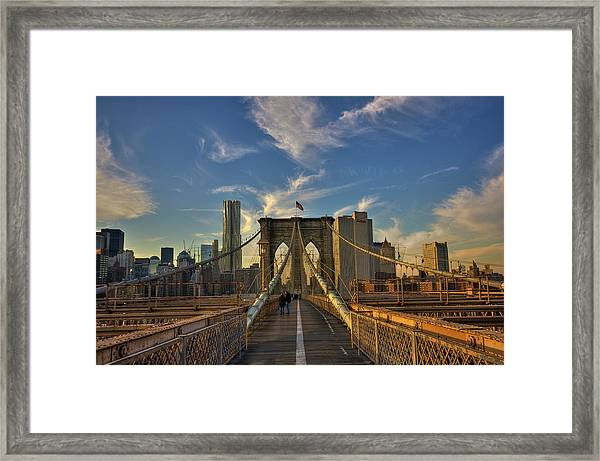 On The Way To Manhattan Framed Print