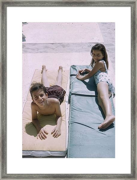 Onassis Children Framed Print