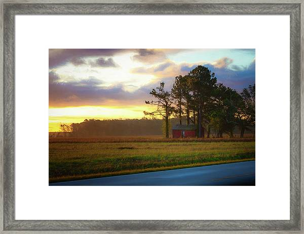 Onc Open Road Sunrise Framed Print