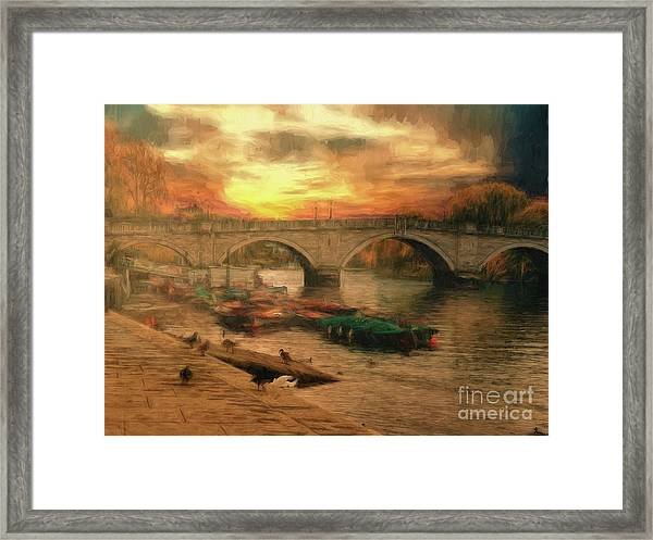 Once More To The Bridge Dear Friends Framed Print