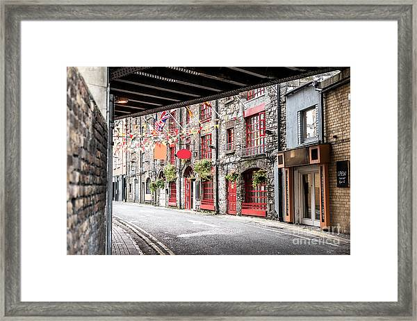 One Beautiful  Street  In Dublin Framed Print by Massimofusaro