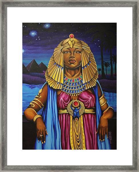 One Night Over Egypt Framed Print