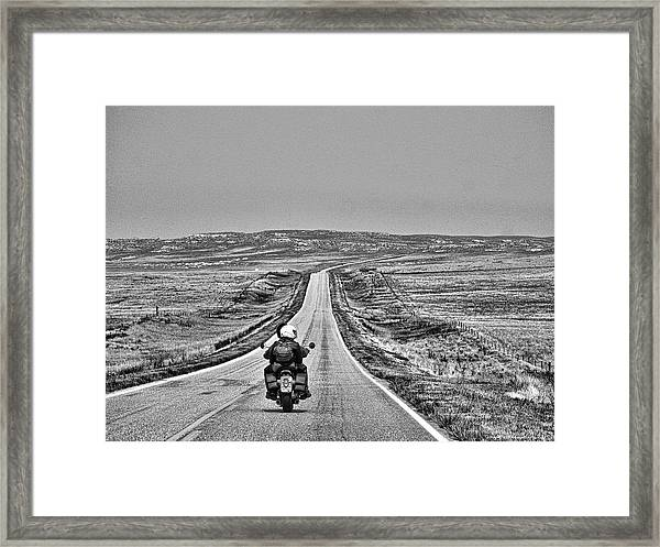 Open Road Framed Print