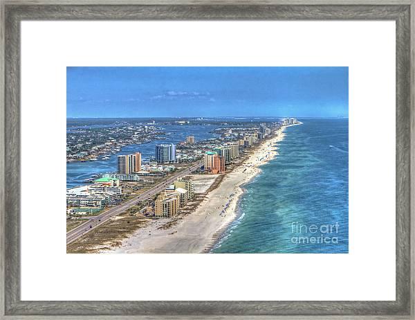 Orange Beach East Framed Print