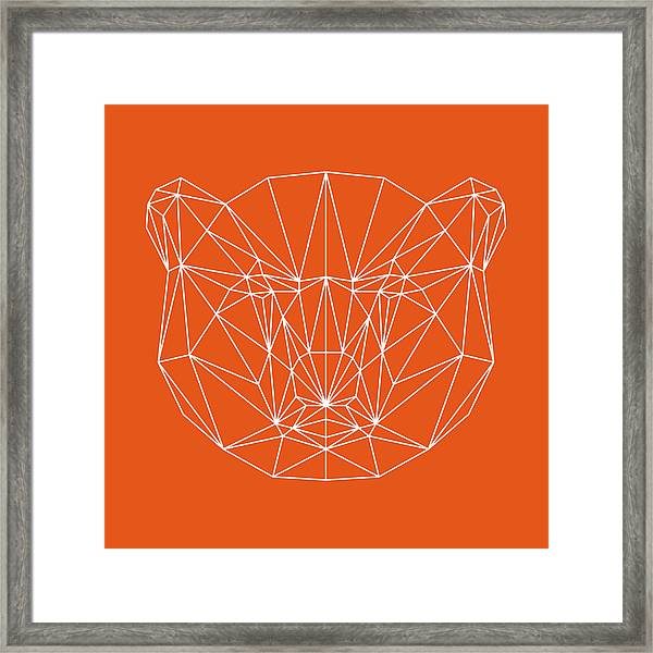 Orange Bear Framed Print