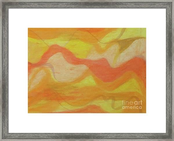 Orange Colors 1 Framed Print